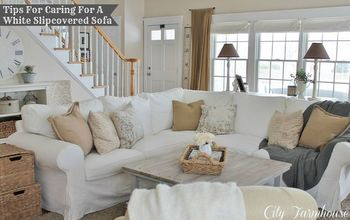 Real Life With White Slipcovers & Tips on Keeping Them Pretty