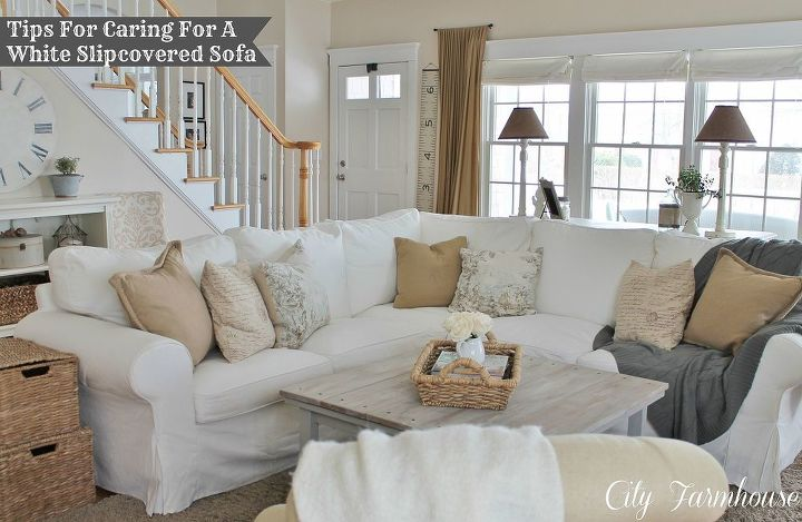 Real Life With White Slipcovers Amp Tips On Keeping Them