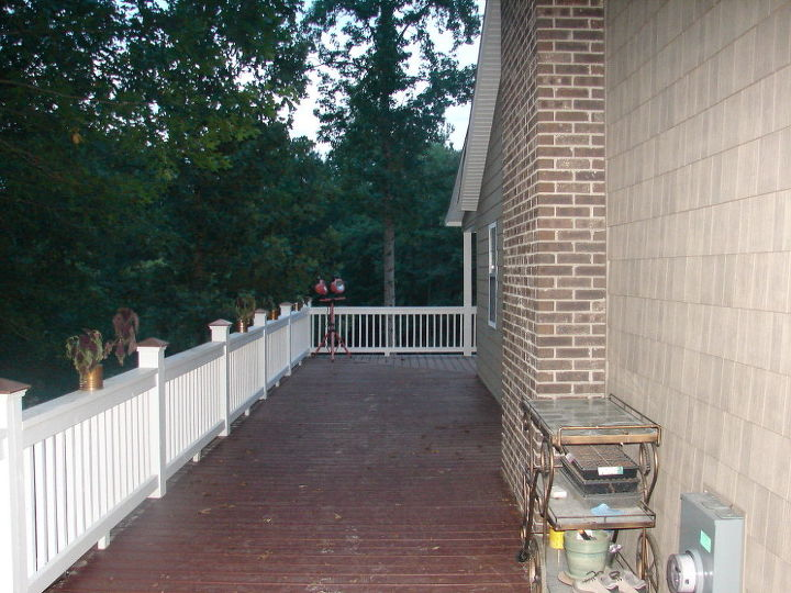 what do i do with a huge side porch, porches, View from the front to the back