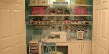 craft sewing closet, craft rooms, Craft Sewing Closet