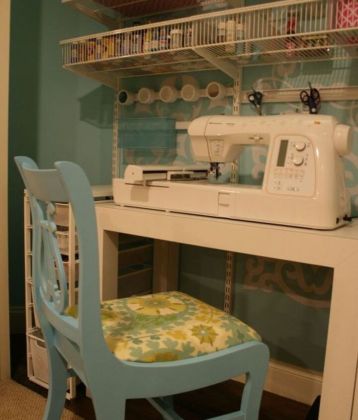 craft sewing closet, craft rooms