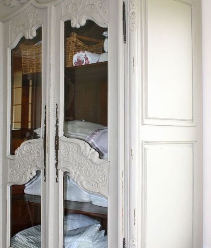 HUGE armoire painted in ASCP French Linen
