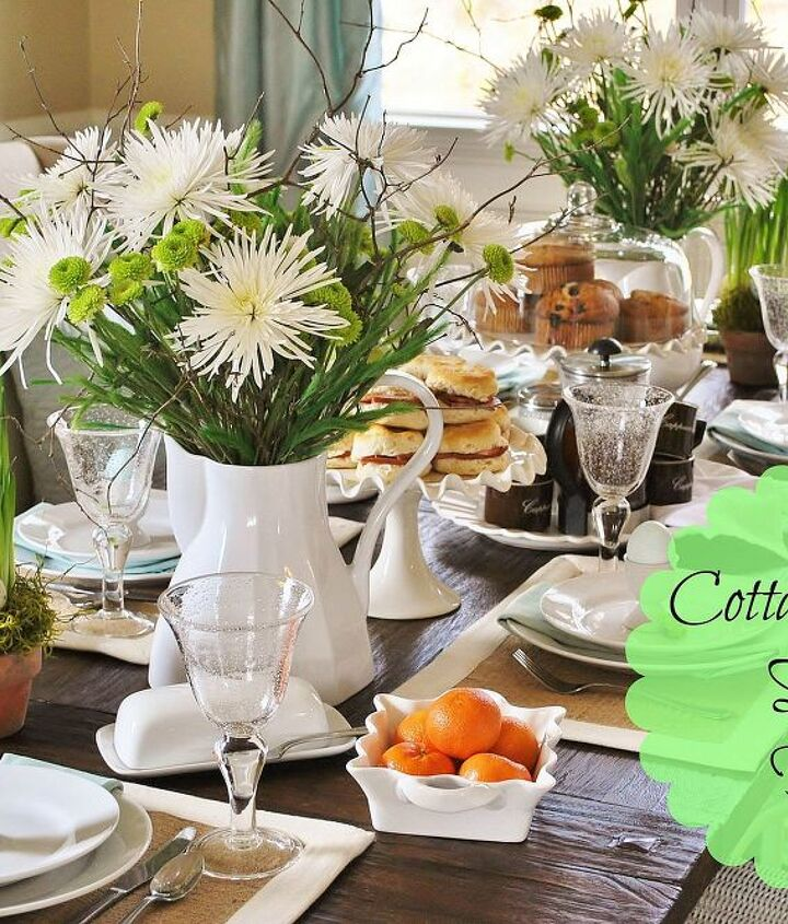 cottage inspired casual easter brunch, easter decorations, seasonal holiday d cor