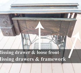 Antique Treadle Sewing Machine Cabinet Repair and Upcycle | Hometalk