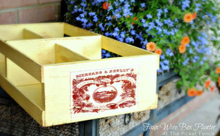 create a faux wine box planter, flowers, repurposing upcycling, How to create a Faux Wine Box Planter from a Goodwill find
