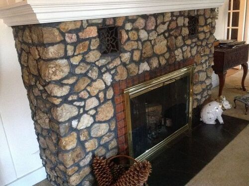 Vintage Fireplace Quartz Rock Needs To Be Cleaned