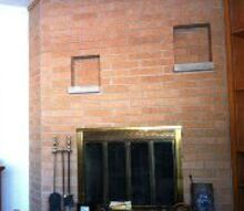 q help update my 70 s fireplace, fireplaces mantels, paint colors, painting, wall decor, Ugly orange brick fireplace