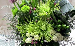 shades of spring a green bouquet, diy renovations projects, seasonal holiday d cor, Early Spring Bouquet green flowers and leaves plus a hint of color