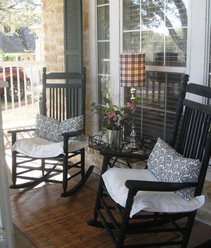 spring front porch, outdoor living, porches