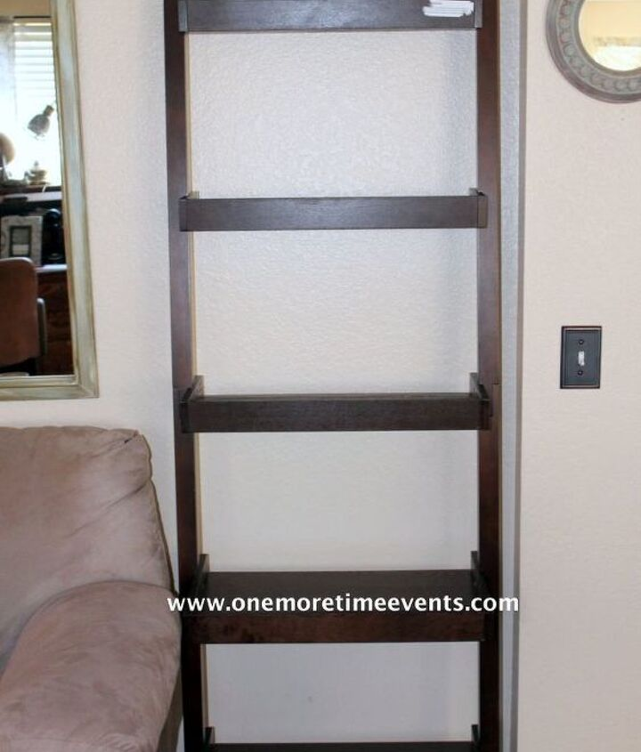 target ladder bookcase re purposed, painted furniture, repurposing upcycling, storage ideas