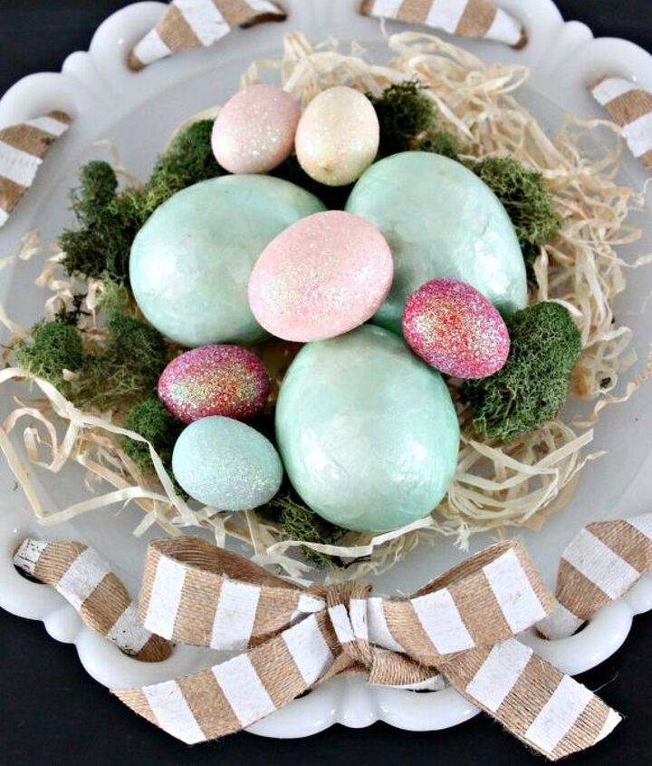 an easy easter centerpiece, easter decorations, seasonal holiday d cor