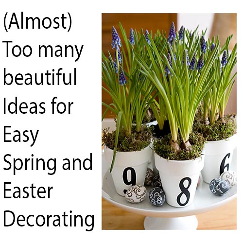 easy and simple easter spring decorating, easter decorations, home decor, seasonal holiday decor, Beautiful Spring and Easter Decor Ideas found here on Hometalk