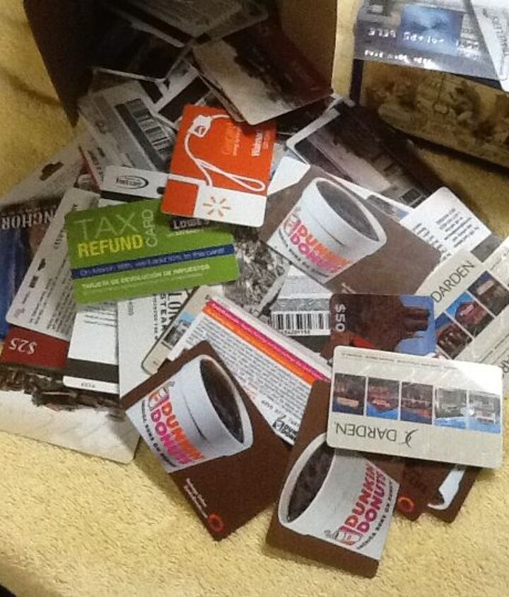 Old gift cards needing a use!