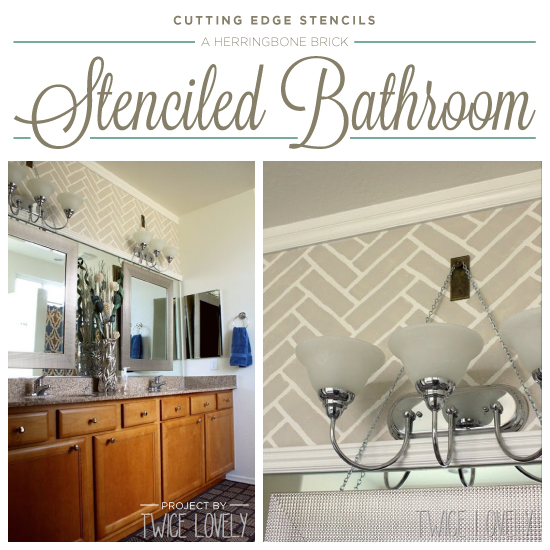 A Herringbone Brick Stenciled Bathroom | Hometalk on bathroom wall stencil moroccan, faux painting, bathroom wall mirrors, bathroom themed stencils, stencil designs painting, bathroom tile stencils, bathroom wall borders, bathroom paint stencils, bathroom sayings stencils for walls, bathroom wall painting ideas, bathroom stencils only, bathroom wall decals, bamboo wall painting, bathroom wall stencil ideas, bathroom stencils words, bathroom wall art stencils, bathroom wall stencil patterns, bathroom wall designs, bathroom wall murals, wall templates for painting,
