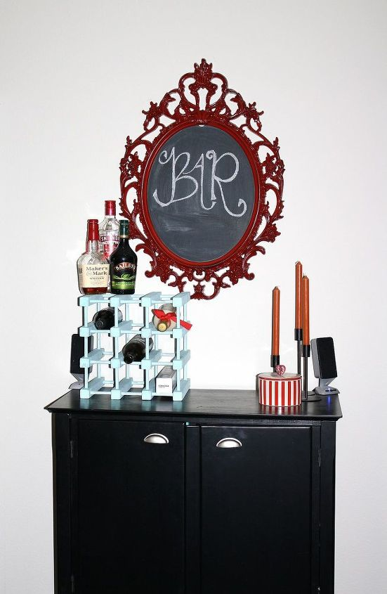 q we drink a lot and need help making this cabinet into a bar any ideas, diy, kitchen cabinets