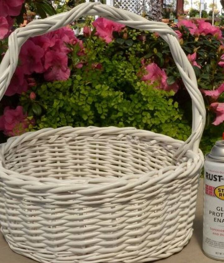 Grab that old basket from the basement or garage and freshen it up with a little spray paint.