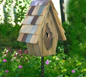 Delicieux Small Birdhouses Can Be Placed On Small Metal Or Wood Post Or Hung For  Depending On