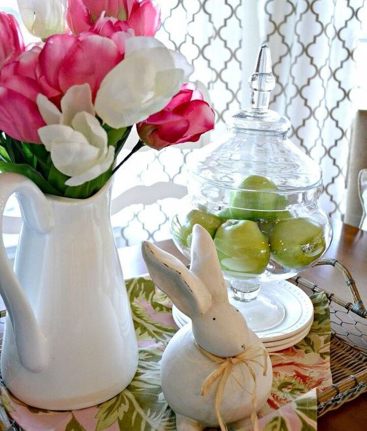 A little Spring vignette helps welcome the new season.