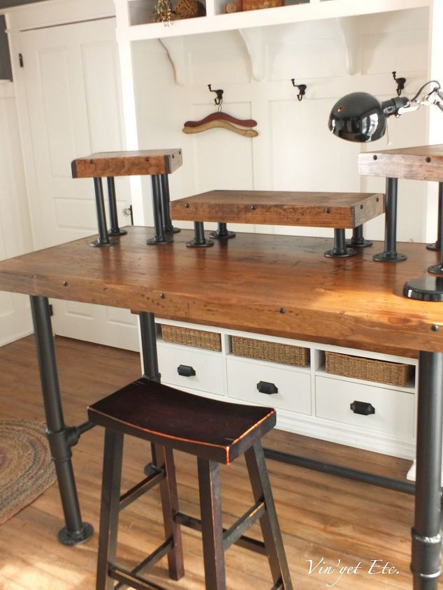 industrial desk reveal 1 3, diy, painted furniture, woodworking projects,  Follow the