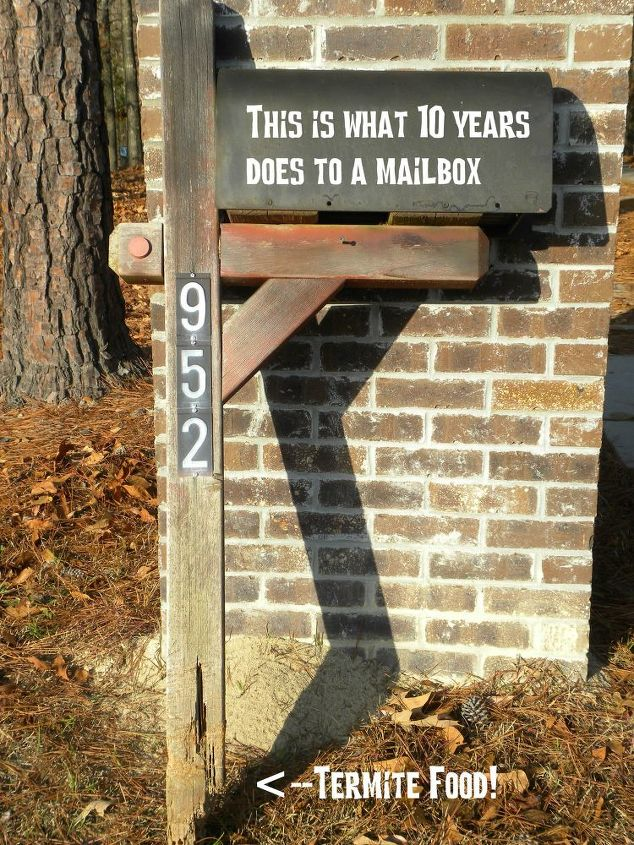 Diy tutorial replacing your mailbox post hometalk diy tutorial replacing your mailbox post home maintenance repairs how to this is solutioingenieria Choice Image