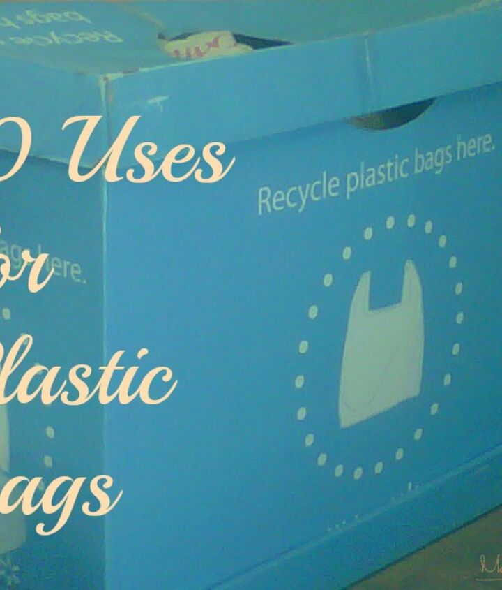 There are many alternative uses for plastic bags, like trash can liners and lunch bags.  I have many more suggestions for you on my blog.