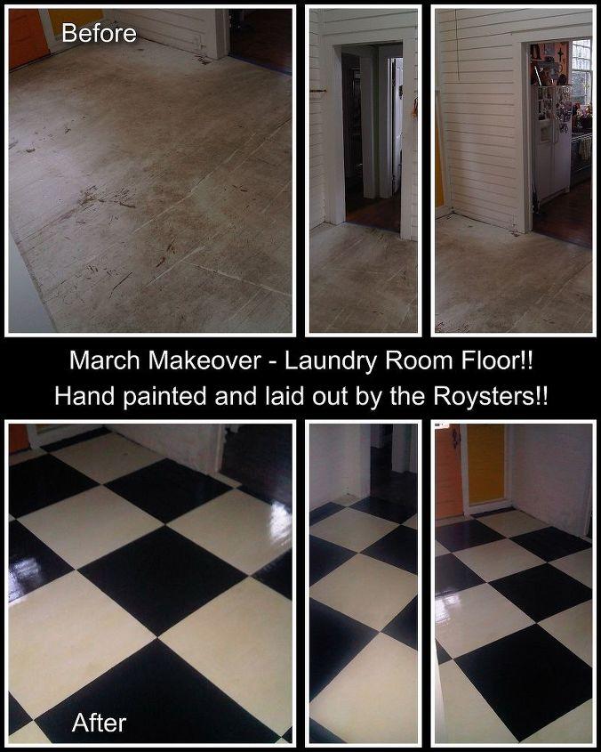 checkerboard floors, diy, flooring, hardwood floors