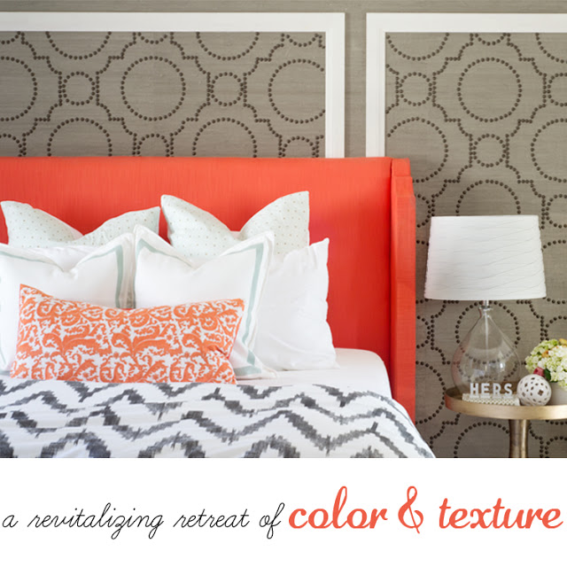temporary accent wall with grasscloth and nailheads, paint colors, painting, wall decor, Stunning backdrop for a bedroom or any room