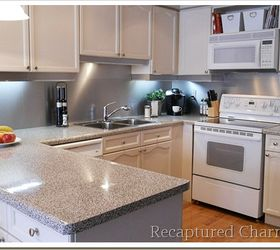 Exceptionnel Backsplash With The Look Of Stainless Steel, Home Decor, Kitchen Backsplash,  Kitchen Design