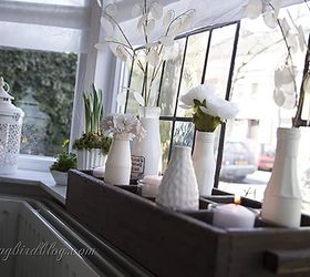 Spring Decoating On The Window Sill, Home Decor, Seasonal Holiday Decor,  The Contrast
