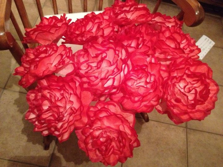 my latest coffee filter flowers, crafts