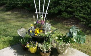 patio flower water garden, flowers, gardening, Patio Flower Water Garden