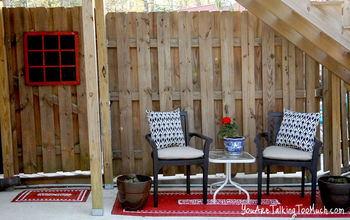 "See how I spruced up a ""dirty"" shady outdoor space!"