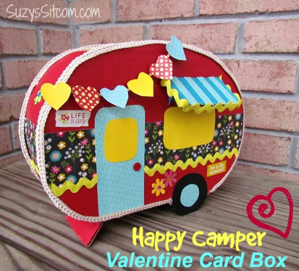 Happy Camper Valentine Card Box – Valentine Cards Box Ideas