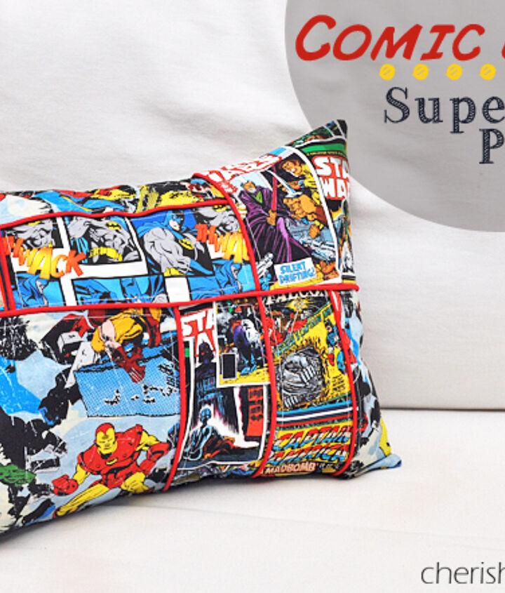 comic book superhero pillow, crafts