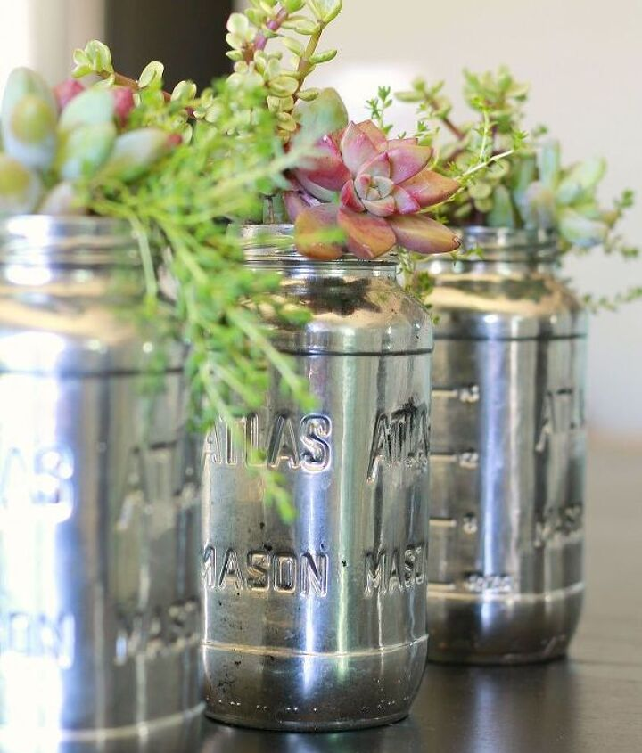 Simple make over with Krylon's Mirror Glass spray paint. 3-5 coats of paint make for a lovely vintage feel.