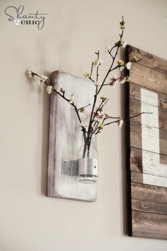 DIY Coffee Bottle Wall Vase | Hometalk
