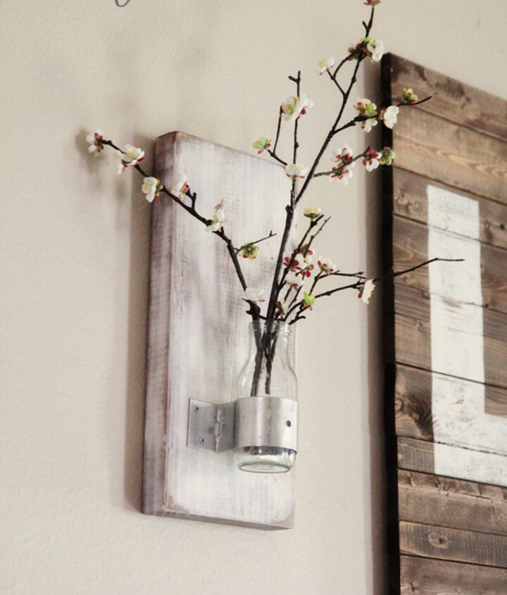 DIY Wall Vase from a Coffee Bottle