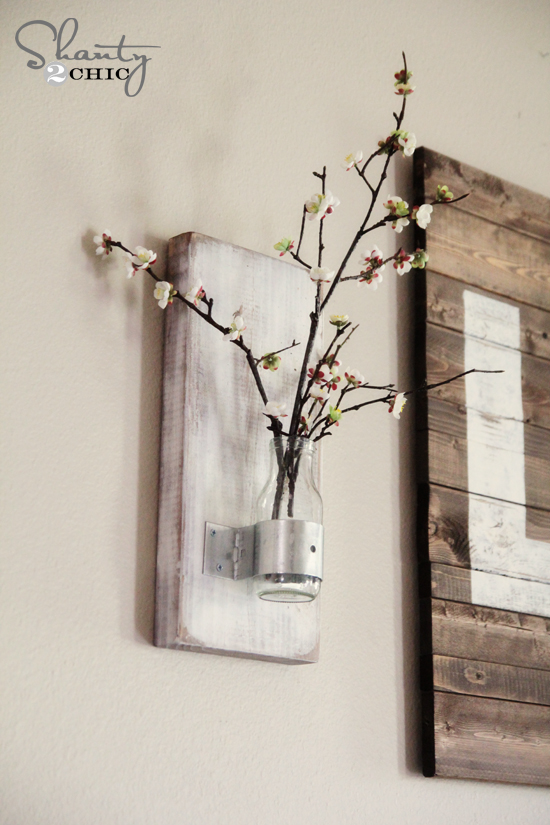 Diy Coffee Bottle Wall Vase Crafts Repurposing Upcycling From A