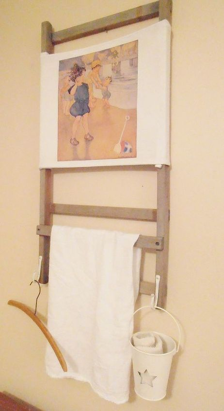 vintage beach chair to vintage beach inspired towel rack, diy, repurposing upcycling, woodworking projects