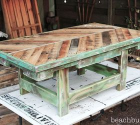 Beautiful Pallet Wood Coffee Table Check Out Beachbumlivin Facebook To Win, Chalk  Paint, Diy,