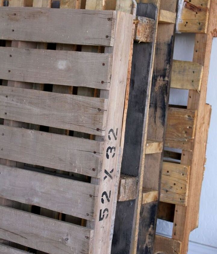 We've been stockpiling pallets for some time and thought these would be great for this easy project.