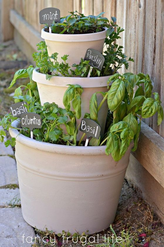 diy stacked herb garden, gardening, homesteading, urban living