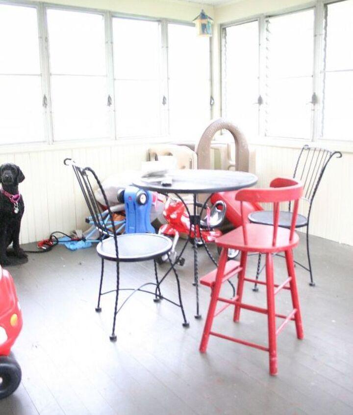 q repainting wood floors on three season porch, flooring, painting, patio, porches