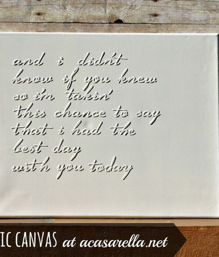 To make your own song lyric canvas....