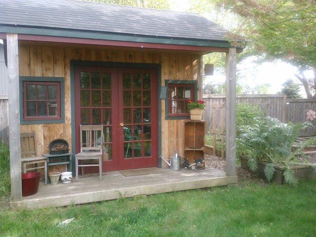beautiful potting shed and getaway, gardening, outdoor living, janes potting shed getaway