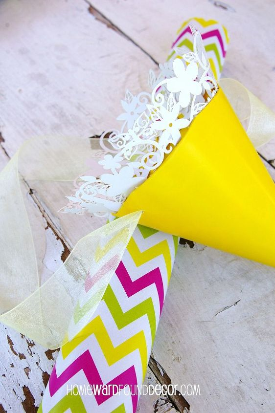May Day Flower Baskets Made From Paper Party Hats Hometalk