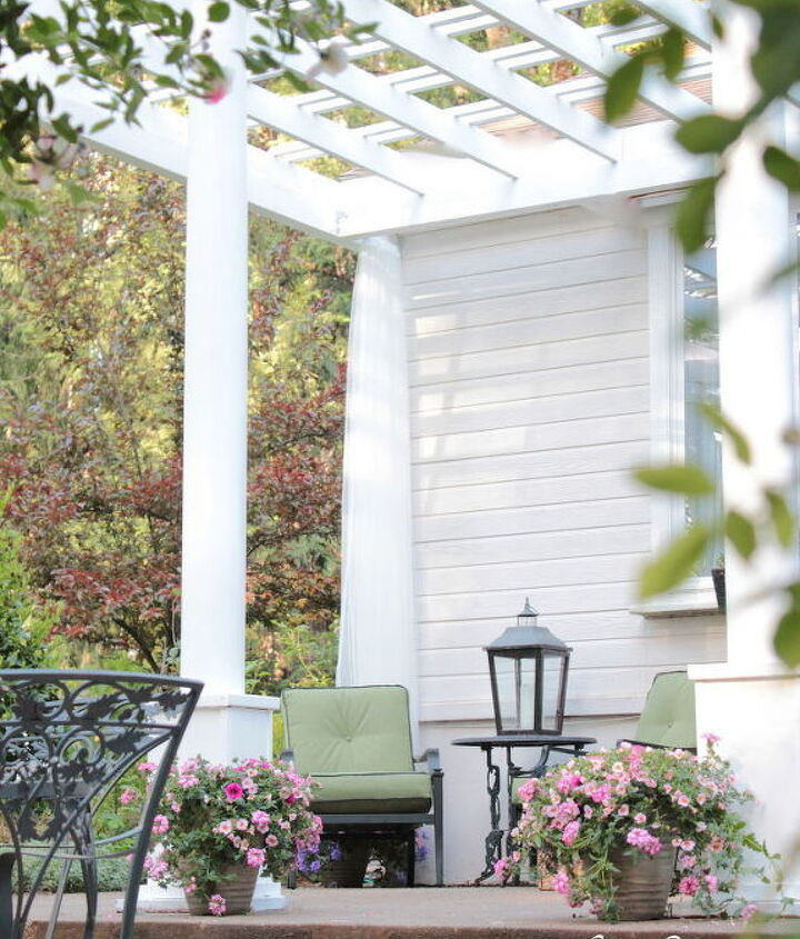 Adding Character With A Front Porch Pergola Hometalk