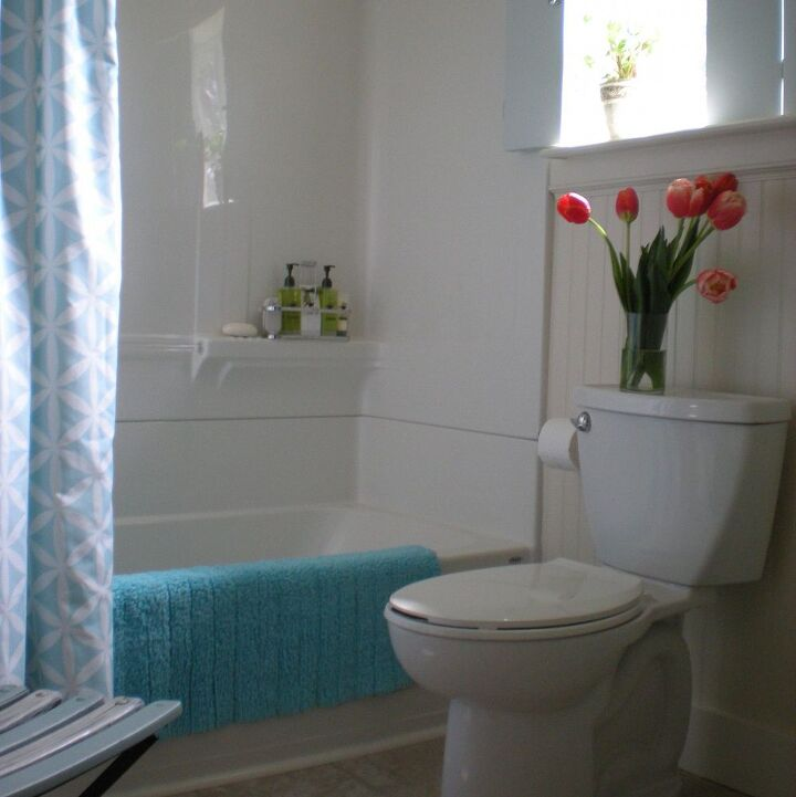Cottage style small bathroom remodel hometalk for Cottage bathroom ideas renovate