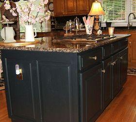 Delightful Painting An Oak Island Black, Kitchen Cabinets, Kitchen Design, Kitchen  Island, Painting