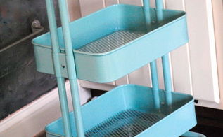 how to organize kids craft supplies, cleaning tips, The cart comes in two colors I chose the Tiffany Box blue